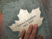 Leaf of Remembrance for Davina Garrison